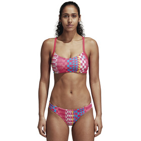 adidas Allover Print Bikini Women Real Pink/Bright Blue